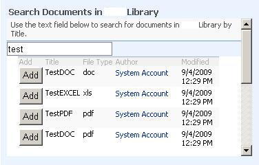 Search Documents in Library