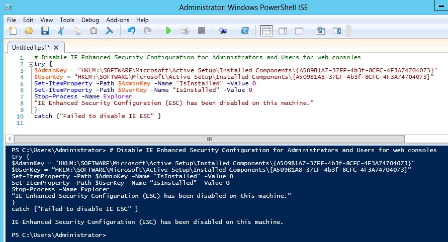 2 - PowerShell.Disable.IE.ESC